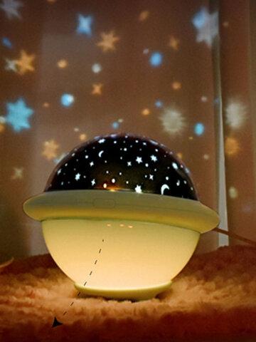 1 PC UFO Shade Starry Sky Projector Coloful Night Light Improve Sleep Home Decoration Night Light