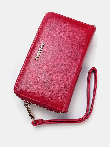 Women Men PU Leather Universal 5.5 Inch Phone Case Vintage Phone Bag Crossbody Bag