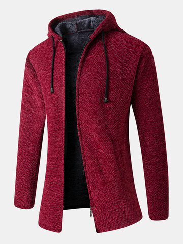 Plush Lined Hooded Cardigans