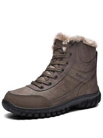 男性屋外耐寒性暖かいハイキングショートブーツ