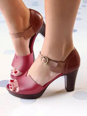 Summer Casual Platform Chunky Heels Sandalen