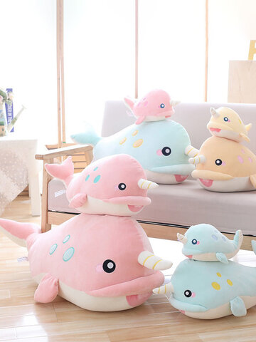 Soft Whale Big Hugging Pillow