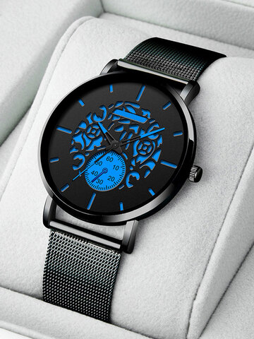6 Colors Stainless Steel Quartz Watch