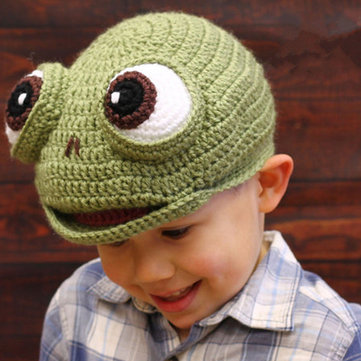 Frog Kid Knitted Hat For 2Y-6Y фото