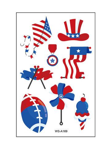 アメリカ国旗タトゥーステッカーバックネクタイノットストッキング独立記念日パーティー小道具防水ステッカー