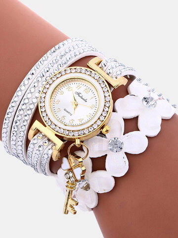 Crystal Flower Quartz Watch