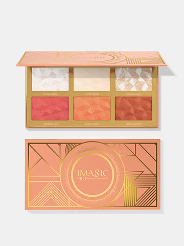 6 Colors Highlighters Blush Palette