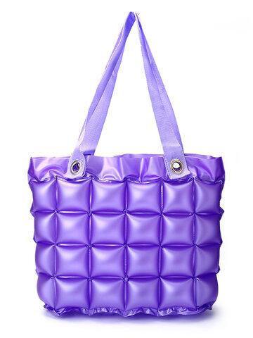 7 Colors Inflatable Travel Storage Bag Large Waterproof Beach Tote Bag Shopping Bag