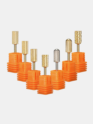 3/32'' Professional Stainless Steel Nail Drill Bits Machine Manicure Tools Polish File Grinding