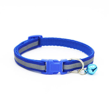 Pet Dog Cat ajustável Collers Puppy Buckle e Clip para Lead Safety com Bell