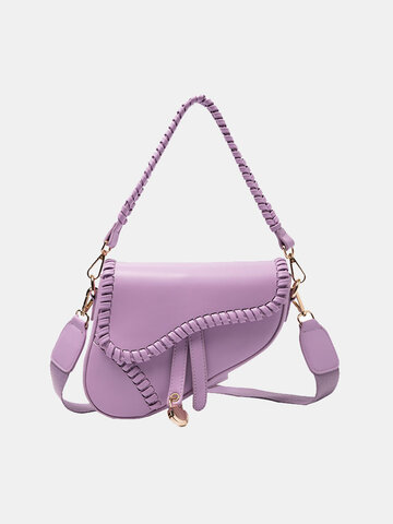 Women Irregular Shape Saddle Bag