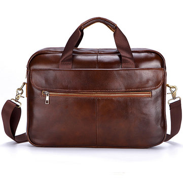 Vintage Genuine Leather Business Laptop Bag