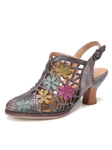Slingback Chunky Heel Sandals
