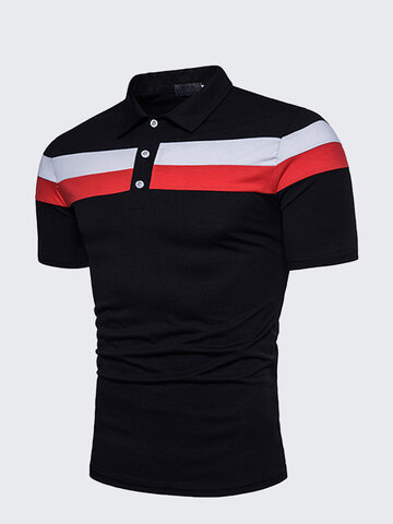Business Casual Striped Golf Shirt