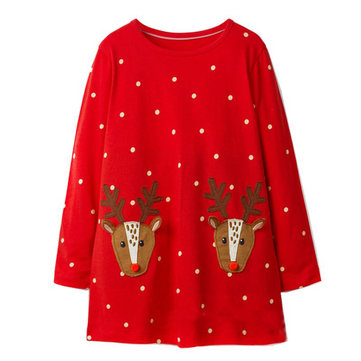 Christmas Girls Casual Dress per 1Y-9Y