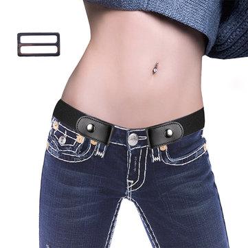 110CM Damen Schmal geschnittener, elastischer, unsichtbarer Gürtel mit mehreren Farben