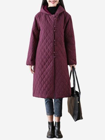 Manteaux épais à capuche pour femmes Vintage