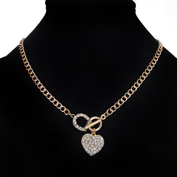 Elegant Heart Pendant Necklace