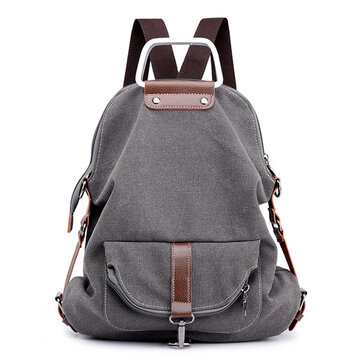 Multi-functional Casual Canvas Crossbody Bag Backpack Women