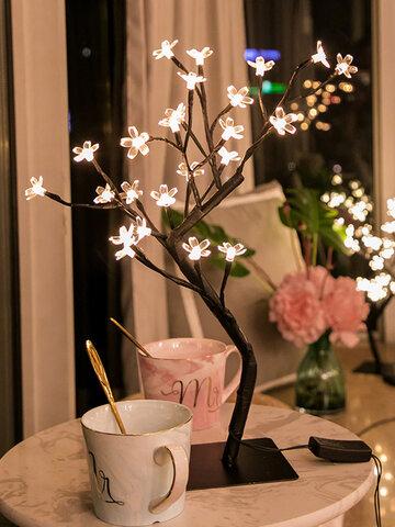桜の木ランプLEDテーブルランプ屋内人工装飾照明付きツリー寝室パーティー結婚式のオフィス