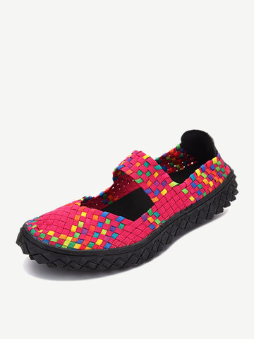 Knitting Elastic Handmade Shoes