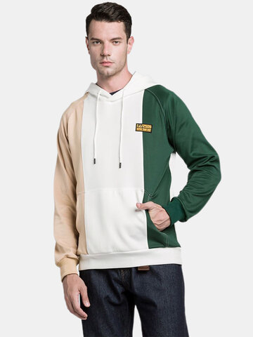 newchic / Tricolor Colorblock Pullover Hoodies