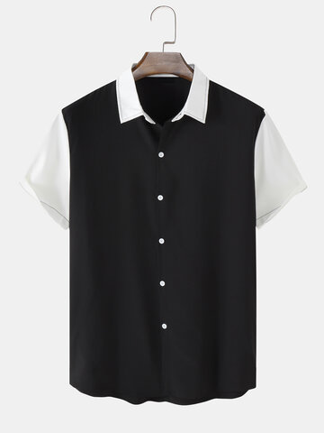 Contrasting Colors Casual Shirt