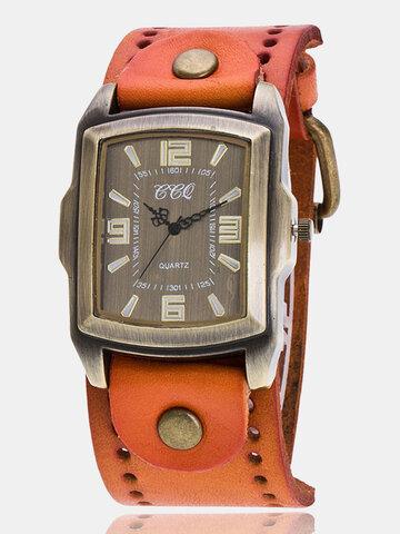 Rectangle Dial Unisex Watch