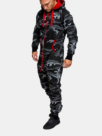 Camo Hipster Thicken Track Onesies
