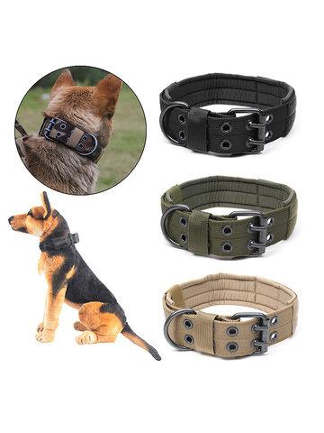 Nylon Medium And Large-sized Dog Training Tactics Dog Ring Five Block Adjusting Needle Buckle