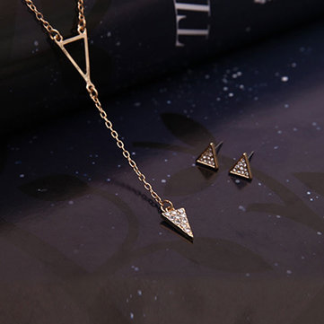 Fashion Triangle Jewelry Set