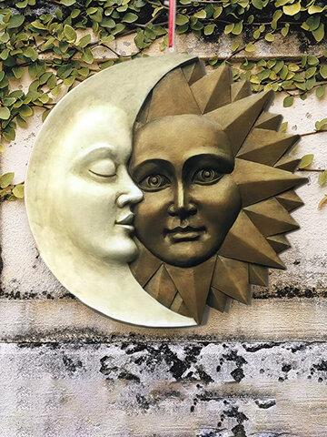 Harmonious Celestial Sun And Moon Garden Front Door Wall Hanging Decor Ramadan Festivale Wedding Gift Ornament