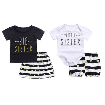 Summer Style Sister Clothing Set