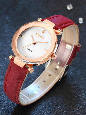 Fashion Leather Strap Watch for Women