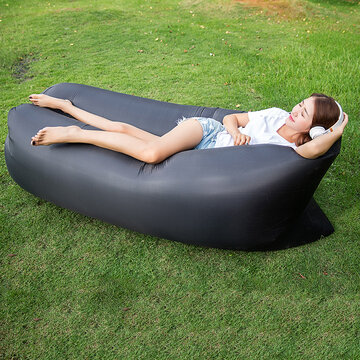 Travel Beach Lazy Sofa Fast Air Inflatable Sleeping Bed Lounger Camping Lay Bag Recliner