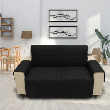 Black Pet Sofa Couch Protective Cover Pad 2 Seater фото