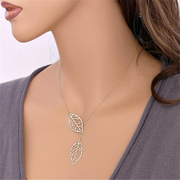 Vintage Leaves Pendant Necklace
