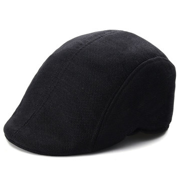 Men Women Herringbone Flat Cap Peaked Racing Hat Beret Country Golf Newsboy Cap, Black white coffee gray
