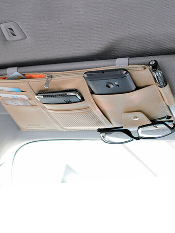 Multifunctional Leather Car Storage Bag
