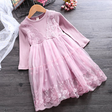 Girls Lace Princess Dresses For 2Y-11Y