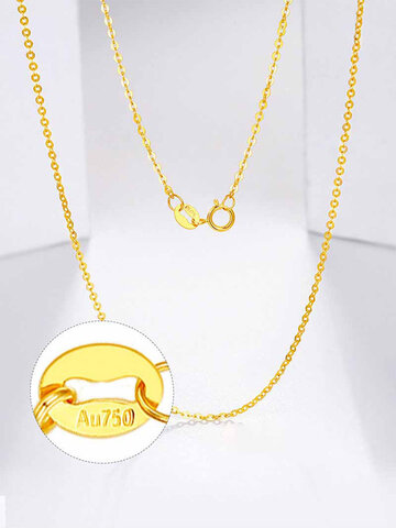 O-shaped Single Chain 18K Gold Necklace