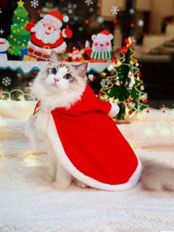 創造的なペットの服クリスマスハロウィーン面白い猫の服防風マント