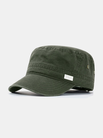 Men Cotton Casual Outdoor Sunvisor Breathable Flat Hat
