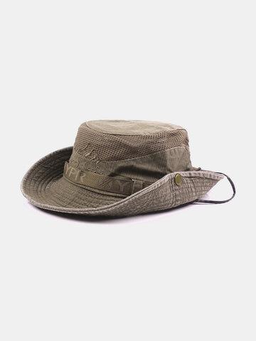 Embroidery Visor Bucket Hats