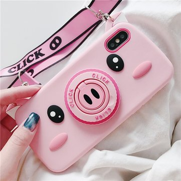 Cute Pig Camer Cover posteriore Custodia per iPhone