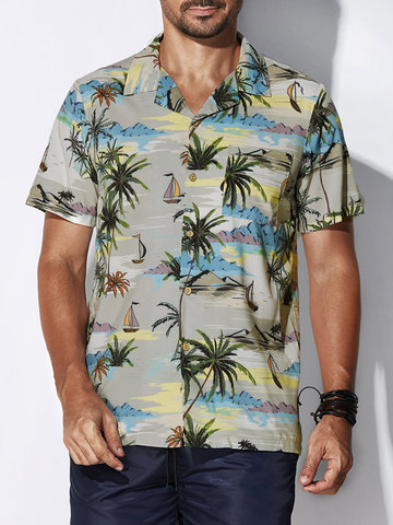 Plus Talla Tropical Playa Camisetas