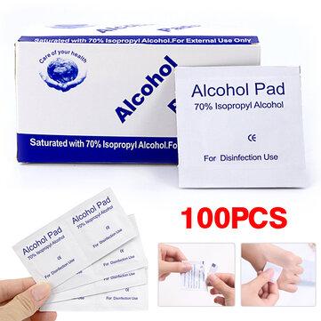 100pcs 30 * 60mm almofadas de preparação de álcool
