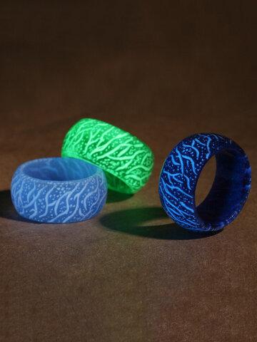 Luminous Crack Resin Rings