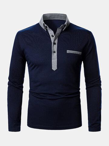 2トーンラペルゴルフシャツ