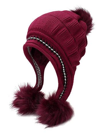Matching Knit Hat And Glove Winter Set